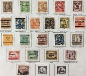 Series of 1923-25 1/2c-$1 regular issue set, Scott #551-571, Used, Fine