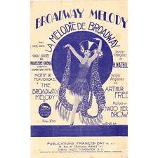 LA MELODIE DE BROADWAY Film THE BROADWAY MELODY Paroles NAZELLES et musique BROW