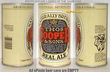 AUSTRALIA COOPER+SONS REAL ALE 25oz STRAIGHT STEEL BEER CAN KOALA BEAR+JOEY-CUB
