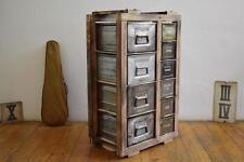 Schubladenschrank Regal Loft Vintage IndustrieDesign Holz Antik Werkstattschrank