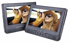 "New 10"" Dual Screen DVD CD Players USB/SD Mount Kit Remote AC/DC 12V Car Cord"