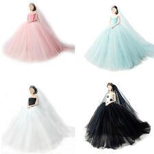 4x Handmade Princess Dress Wedding Clothes Gown+veil for Barbie Doll Set