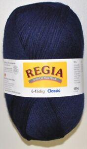 150g Regia Sockenwolle Strumpfwolle dunkelblau 6-fach 6-fädig filzfrei Fb. 324