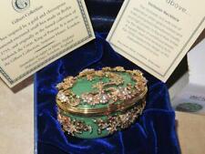 Halcyon Days Large Jeweled Trinket Enamel Snuff box Gilbert Collection Rare Nib