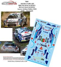 DECALS 1/43 REF 1644 SKODA FABIA R5 MAGALHÃES AZORES AIRLINES RALLY 2018 RALLYE