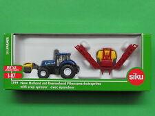 1:87 Siku Farmer 1799 New Holland Traktor mit Kverneland Pflanzenschutzspritze