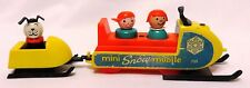 Vtg 1971-73 Fisher-Price Little People PLAY FAMILY MINI SNOWMOBILE #705 Complete