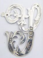 Antique Solid Sterling Silver Letters 'Y' Hallmarked 1924 London 32mm