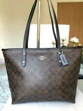 Coach Hand Bag Tote Signature Shoulder Bag BNWT RRP £350 Sold Out Brown/Black