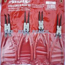 """Neilsen Snap Ring Plier Set Cir Clip Internal & External 7"""" Long Comfort Grip 2D"""