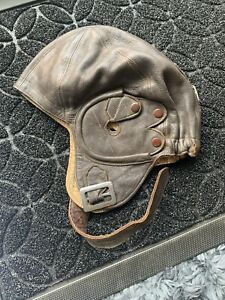 Ex- RAF Leather Flying Helmet.