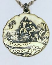 1936 Olympic Participation Sterling Medal Pendant Necklace
