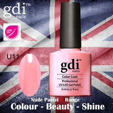UK SELLER Gdi Nails NUDE Range U11 UV/LED Gel Soak Off nail polish