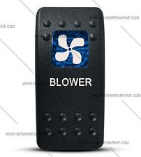 Labeled Contura II Rocker Switch COVER ONLY, Blower (Blue Window)
