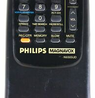 PHILIPS MAGNAVOX TV/VCR Combo REMOTE CONTROL N9305UD For VCA431 VCA631AT VRA631