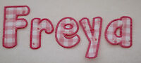 Fabric Alphabet Sew on/ Iron on Letters Appliqué 3.75in / 9.5cm Pink Blue Red