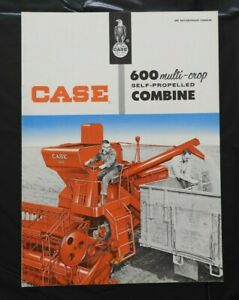 "1954 J I CASE ""MODEL 600 MULTI-CROP SELF-PROPELLED COMBINE"" CATALOG BROCHURE NMT"