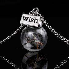 Lovely Dandelion nel cristallo collana con ciondolo a forma di palla di vetro