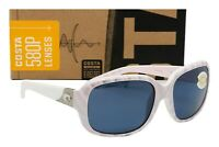 NEW COSTA DEL MAR GANNET Sunglasses Matte Seashell frame / Grey 580P lens Womens