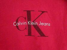 CALVIN KLEIN vtg classic CK logo Manhattan T shirt NYC fashion small beat-up tee