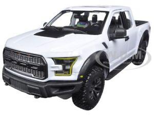 2017 FORD RAPTOR PICKUP TRUCK WHITE 1/24 DIECAST MODEL CAR BY MAISTO 31266