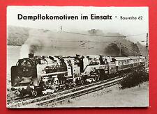 6 x Foto Ak Kpl. Serie im Original Schutzumschlag Dampflokomotiven BR 62 ( 2987