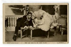 c 1910 British Edwardian GABY DESLYS Harry Pilcer Glide Dancer photo postcard