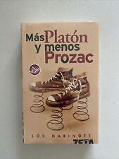 Mas Platon y Menos Prozac por Lou Marinoff Best Seller Filosofia De Problemas