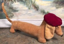 "Couderoy Dachshund Wiener Dog Red Beret Vintage 7"" Stuffed"