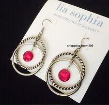 "Lia Sophia ""Raspberry Splash"" Earrings"