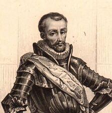 Portrait XIXe Louis de Balbes de Berton de Crillon Murs Vaucluse 1846