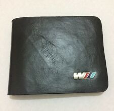 M3 Wallet in Black Leather Backpack Bifold ID Holder