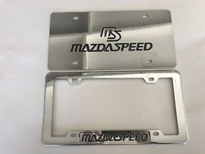 MS MAZDA SPEED CHROME LICENSE PLATE FRAME SET
