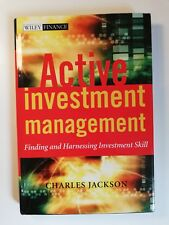 "Livre ""Active Investment Management"" par Charles Jackson / Willey Finance"