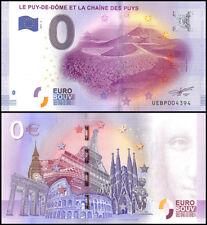Zero (0) Euro Europe, 2017 - 2(2nd Print), UNC, Le Puy-De-Et La Chaine De Puys
