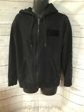 Vans Full Zip Hoodie Black Cotton Blend Men's Size L Large