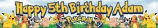 POKEMON THEMED BIRTHDAY PARTY BANNERS INVITES & POSTERS PACKAGE ALL AGES PIKACHU