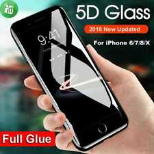 100% Full 5D Curved For Apple iPhone6,7,8+,WHITE Tempered Glass Screen Protector