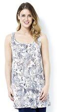 Kim & Co Printed Venechia Sleeveless Swing Tunic, XS, Floral Paisley, NEW