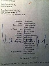 San Fransisco Opera Salome program, Sept '74, signed tenor, Hans Hopf
