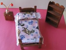 Dollhouse Miniature Three Rooms Of Furniture