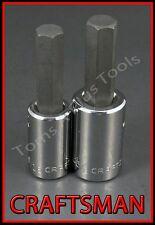 CRAFTSMAN HAND TOOLS 2pc LOT 1/2 dr SAE Hex Allen key bit ratchet socket set !!