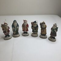 6 Santas from Around the World Collectible Ceramic Figurine Ornaments 1884-1925