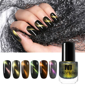 NEE JOLIE 3.5ml Chameleon Cat Eye Nail Polish Glitter Magnetic Nail Art Varnish