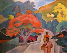 Polynesian Woman and Tiki  by Arman Manookian   Giclee Canvas Print Repro