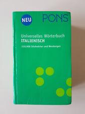PONS Universelles Wörterbuch Italienisch (2006, Gebunden)