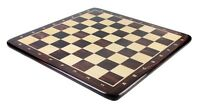 """24"""" Wooden Chess Board Rosewood - Inlaid Notation - Square Size 2.5"""" (63.5 mm)"""