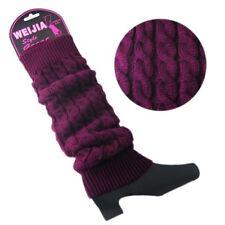Women Winter Warm Knit High Knee Leg Warmers Crochet Leggings Slouch Boot Socks