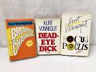 Lot Of 3 Kurt Vonnegut Jr Vintage HC Books~ Breakfast Champions, Dick, Hocus