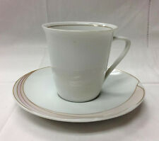 HUTSCHENREUTHER EN VOGUE MAXIM'S DE PARIS TEACUP & SAUCER PORCELAIN NEW  GERMANY